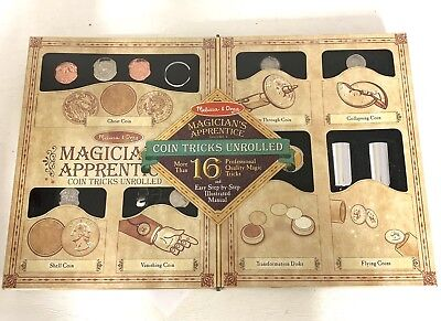 Melissa and Doug - Magician's Apprentice Coin Tricks Unrolled 16 Professional Co