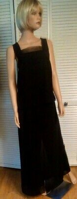 Fisherman Halloween Costume Women (Black palazzo pants  top vtg Miss Fisher Downton Abbey Gatsby Gown Dress)
