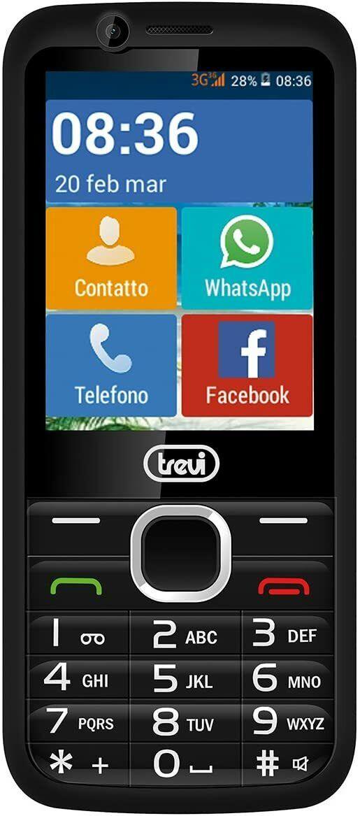 Trevi RELAX 90 Easy 3G Senior-Handy mit großen Tasten und 2,8-Zoll-Touchscreen,