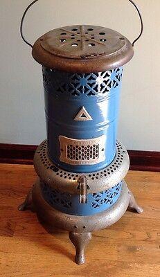 Vintage Perfection 1630 Smokeless Oil Kerosene Heater Blue Porcelain Stove USA