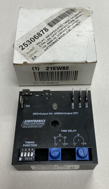 AirTronics MC1003601H Timer 0-100Min 120V NOS