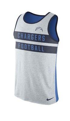 Nike Los Angeles Chargers Stripe Tri Tank Top (White) Mens Size XXL