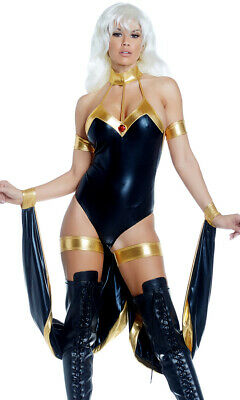 Forplay Sexy Controller Superhero Bodysuit Adult Womens Halloween Costume 557892 - Superheroes Costumes Womens