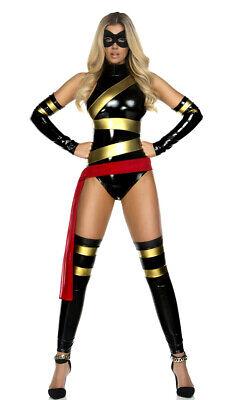 omicbuch Superheld Erwachsene Damen Halloween Kostüm 554703 (Forplay Kostüm)
