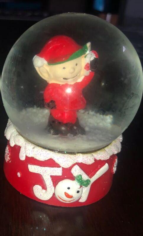"Christmas Snow Globe 2.5"": Elf 'Joy""-BRAND NEW-SHIPS N 24 HOURS"