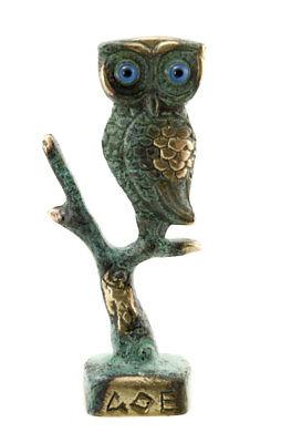 Statue figure owl greek bronze Greece antique 3660 C2