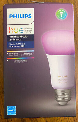 PHILIPS hue Smart Wireless LED Light Bulb 10W Dimmable White & Color Ambiance /A