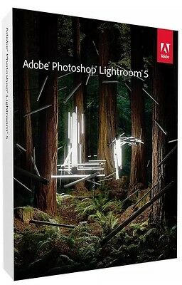 Adobe Photoshop Lightroom 5 for Mac/PC Full Retail pack back to school / college