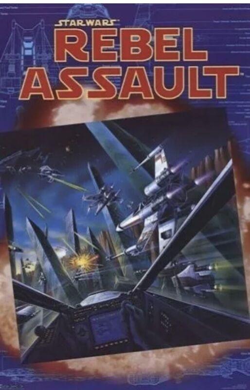 Star Wars: Rebel Assault Video Game Poster 23x35 S/S Rail Shooter LucasArts Sega