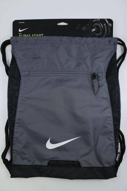Nike Alpha ADAPT Gymsack Gray/black/wht Drawstring Bag Backpack ...