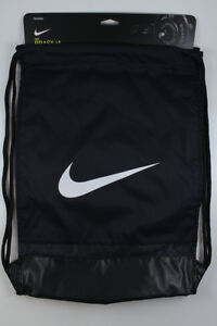 NIKE BRASILIA GYMSACK BLACK WHITE DRAWSTRING BAG BACKPACK GYM SACK BA5338  NEW 1c948c430d
