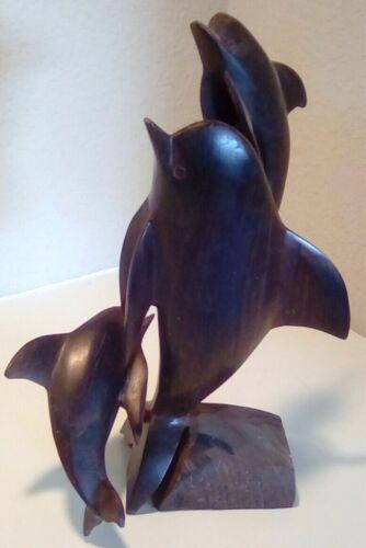 Wooden Dolphins Sculpture