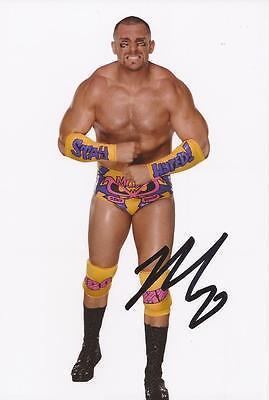 WWE WRESTLING: MOJO RAWLEY SIGNED 6x4 PORTRAIT PHOTO+COA **PROOF**