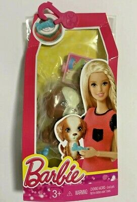 BARBIE FASHION PUPPY [BROWN & WHITE] DOG WITH ACCESSORIES CFB56 NEW & SEALED