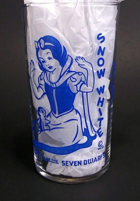 Vintage 1938 Disney Snow White and The Seven Dwarfs Drinking Glass Snow White