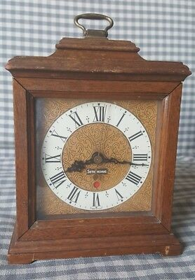 Vintage electric mantle/shelf/table clock. Seth Thomas Buckingham. E018-000.