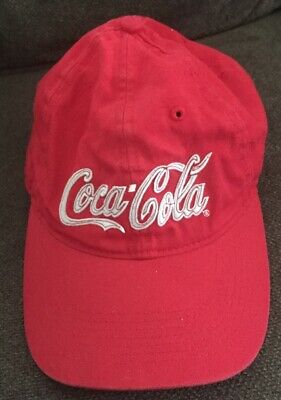 Coca Cola red White Hat cap adjustable One Size adult Anoma Official Licensed