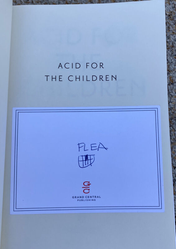 Flea Signed Book Acid For The Children Red Hot Chili Peppers