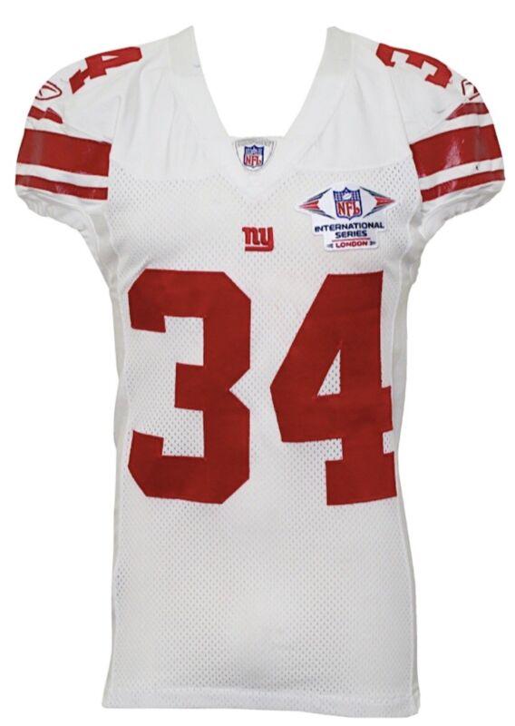 New York Giants Game Used/ Worn Derrick Ward Jersey London Series