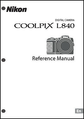 Nikon CoolPix L840 Digital Camera User Guide Instruction  Manual