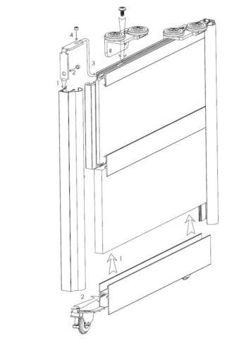 schiebet r bausatz f r 2 t ren als schrank oder raumteiler. Black Bedroom Furniture Sets. Home Design Ideas