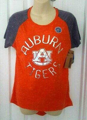 AUBURN TIGERS Womens T Shirt Medium Silver Sparkle Logo Jersey Style Orange New Auburn Tigers Womens Football Jersey