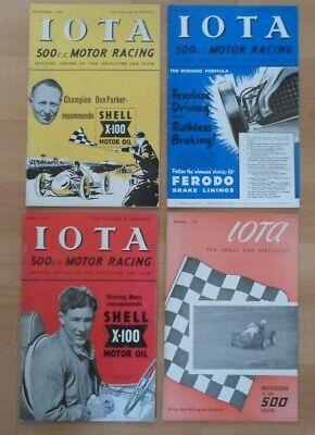 IOTA 500cc RACING CLUB FOUR MAGAZINES 1951/52 STIRLING MOSS