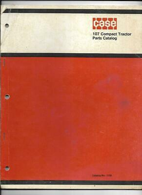 Case 107 Compact Tractor Parts Catalog No. 1156