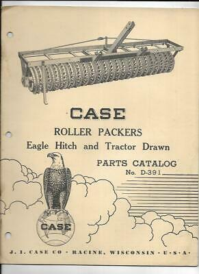 Case Roller Packers Eagle Hitch And Tractor Drawn Parts Catalog No. D-391