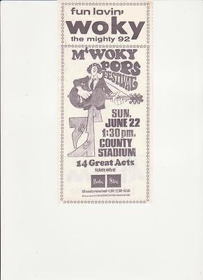 Woky Milwaukee  Wi Original Top 40 Radio Station Music Survey June 10  1969