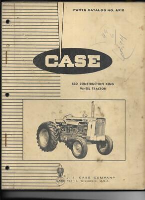 Case 530 Construction King Wheel Tractor Parts Catalog No. A910