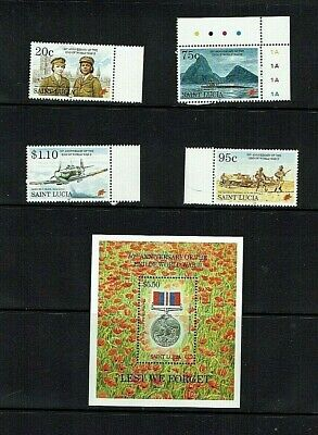 St Lucia: 1995 50th Anniversary of the end of World War II. MNH set