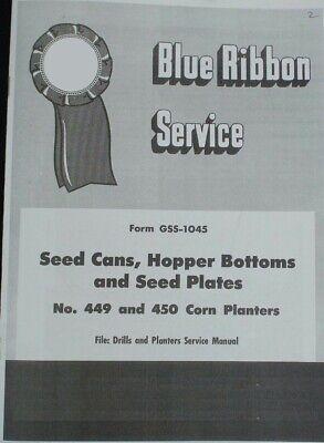 Ih Mccormick Combination Hopper Bottom Blue Ribbon Service Manual Farmall Cub