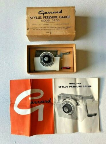 Vintage Garrard Stylus Pressure Gauge model SPG3 Made in England Never Used