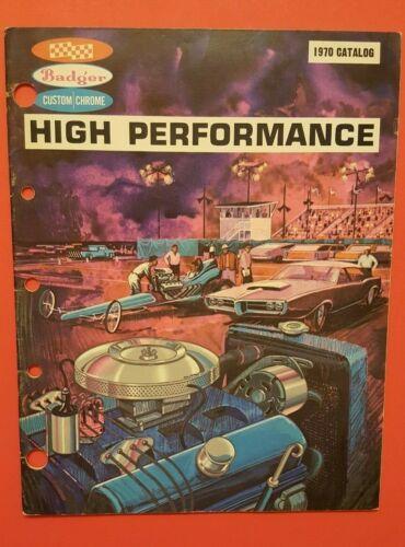 1970 BADGER  HI-PERFORMANCE CATALOG  RACE STREET CHROME