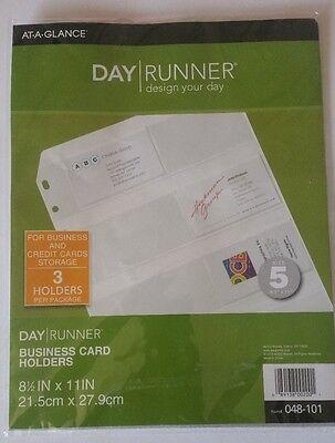 Day Runner Planner Business Card Holder 048-101 New