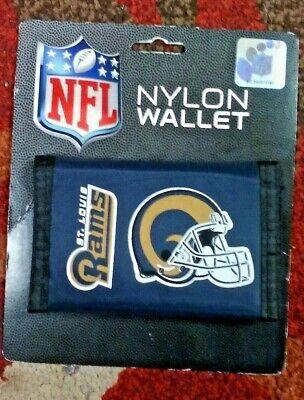 NFL ST LOUIS RAMS NYLON WALLET TRI-FOLD BRAND NEW !