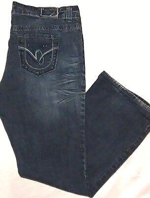 H2j Hydrolic Women's Stretch Fit Boot Cut Denim Blue Jeans  16 W   38 x 30  A for sale  Granite City