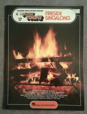 Fireside Singalong EZ Play Today Big Note Piano Organ Keyboard Songbook