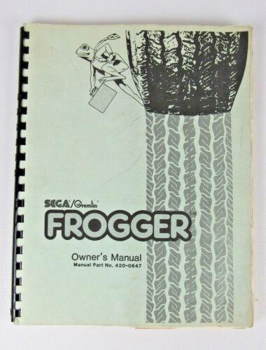 Sega / Gremlin Frogger Arcade Game Manual