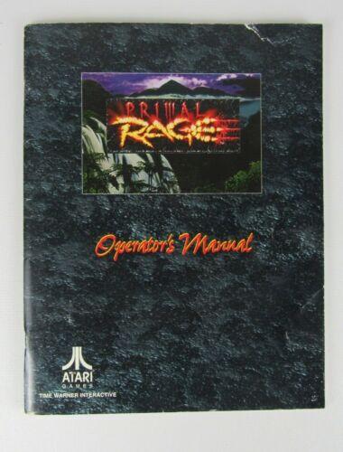 Atari Primal Rage Arcade Game Manual