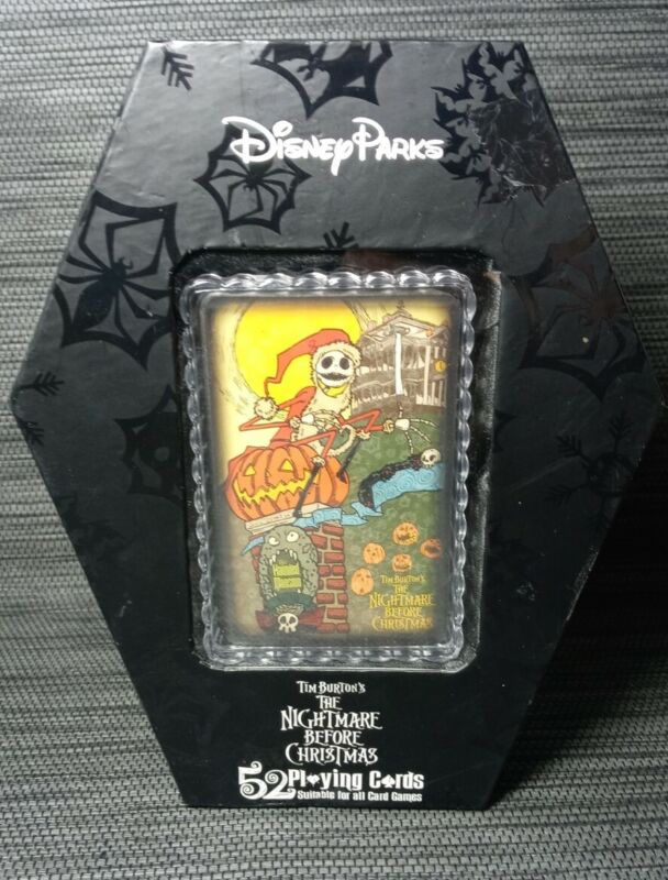 Playing Cards Coffin Set The Nightmare Before Christmas Disney Parks Exclusive