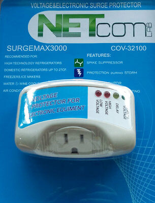 Electronic Surge Protector for Refrigerators up to 27 Cuft and (Ups Electronic)