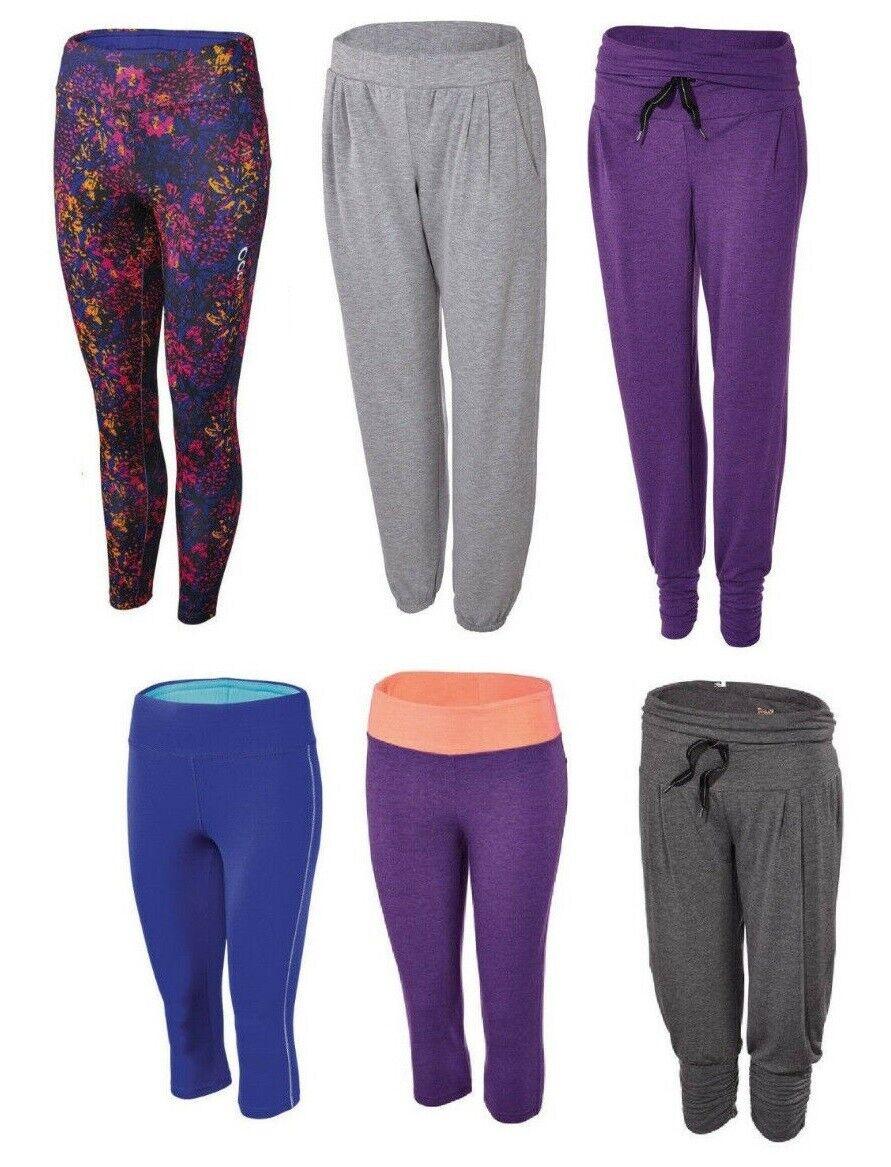 Damen Laufhose Sporthose Fitnesshose Freizeithose Funktionshose Capri Jazz yoga