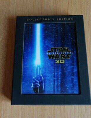 STAR WARS THE FORCE AWAKENS 3D BLU RAY COLLECTOR'S EDITION INCLUDES 2D VERSION