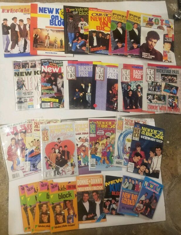 New Kids On The Block Book Lot