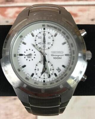 Seiko SNA163 Stainless Steel 100M Men's Hardlex Alarm Chronograph Watch NO Tags Alarm Chronograph 100m Mens Watch