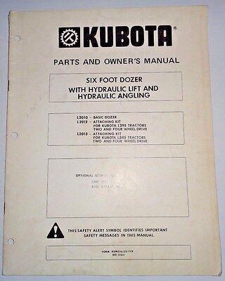 Kubota L2010 6 Dozer Owners Parts Manual Used On L345 Tractors Blade L2012