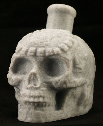 Mayan / Aztec Death Whistle Skull Marble White PLA *** MADE IN USA ***