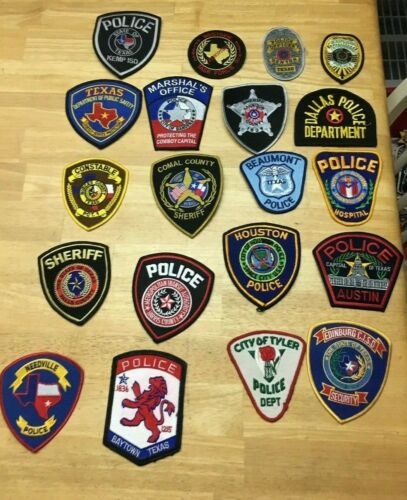 NICE LOT OF 20 TEXAS POLICE  SHOULDER PATCHES  TX07